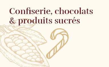 Confiserie, chocolats & produits sucrés